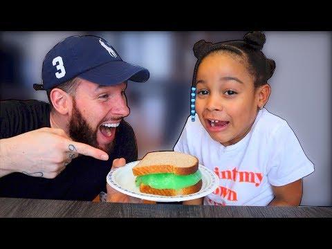 Slime Sandwich Prank on Cali!