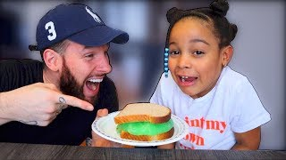 Slime Sandwich Prank on Cali!