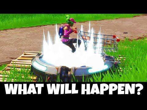 WHAT HAPPENS IF A SHOPPING CART LANDS ON A LAUNCH PAD!? (MUST SEE) - Fortnite Mythbusters