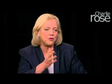 Meg Whitman on Carly Fiorina & the HP-Compaq Merger (Nov. 3, 2015) | Charlie Rose