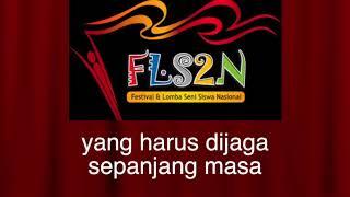 Video Karaoke Lagu Tantangan FLS2N 2017 PUTRA Lestari Sepanjang Masa