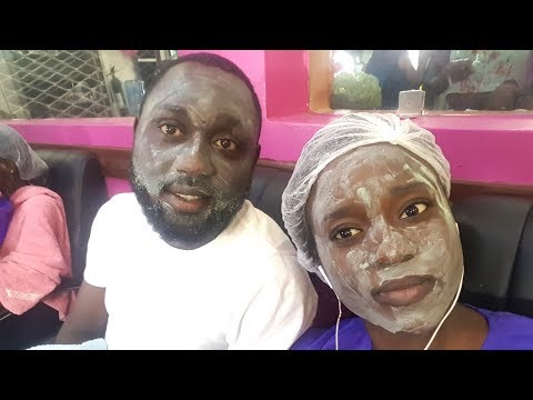 Life in Lagos, Nigeria / HIS FIRST FACIALS EVER 2018