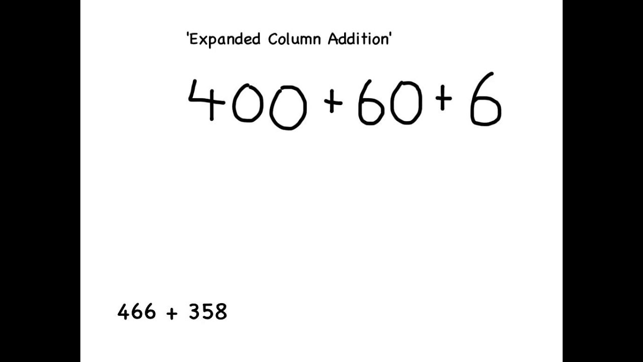 Y3 how to add using expanded column addition YouTube – Expanded Addition Worksheets