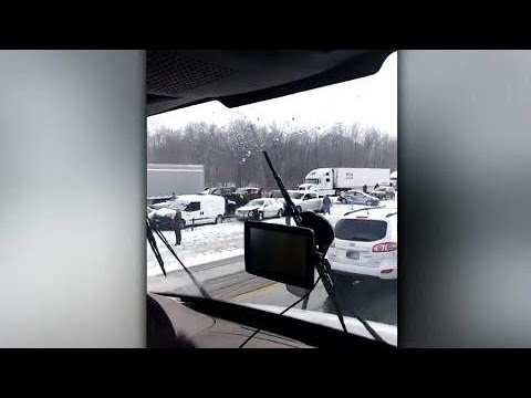 50+ car pileup shuts down Ohio interstate, minor injuries reported