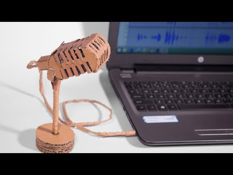 How to make a Professional Microphone at home using Cardboard