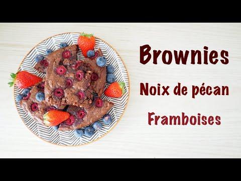 recette-:-brownies-noix-de-pécan-framboises
