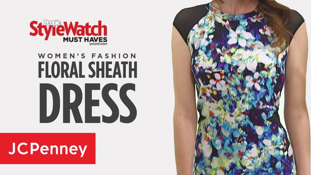 Floral Sheath Dress Womens Styles