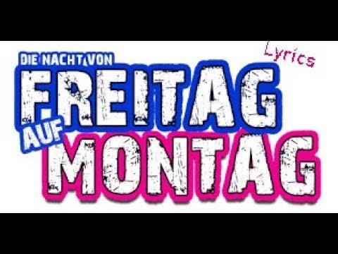 Peter Wackel, Freitag Auf Montag-Lyrics-Text