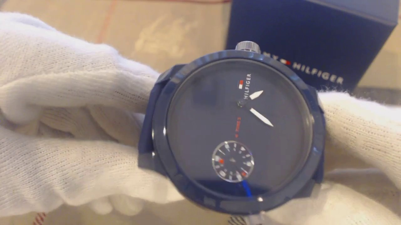559966a5 Men's Tommy Hilfiger Cool Sport Blue Silicone Strap Watch 1791325 ...