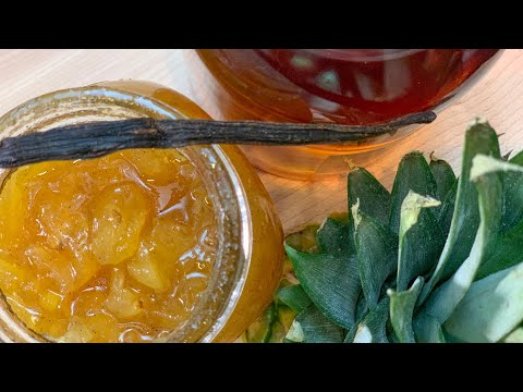 confiture-maison-facile-ananas-vanille-rhum