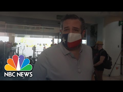 Sen. Cruz 'Headed Back To Texas' After Traveling With Family To Mexico | NBC News NOW