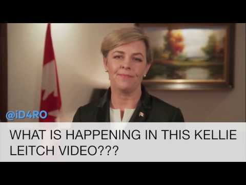 Kellie Leitch made a weird video and everybody is going crazy about it.