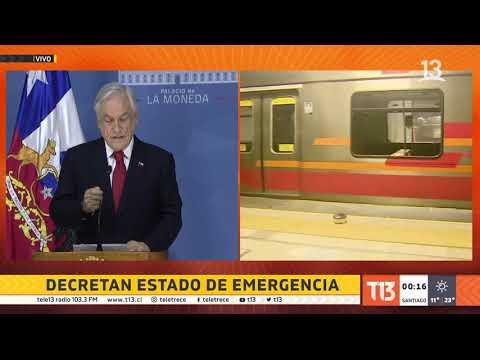 Presidente Piñera decreta