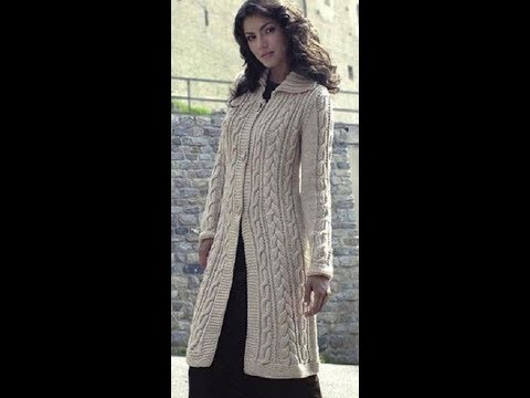 Шикарное вязаное весеннее пальто на пуговицах с полным описанием. Идея для вашего вдохновения.