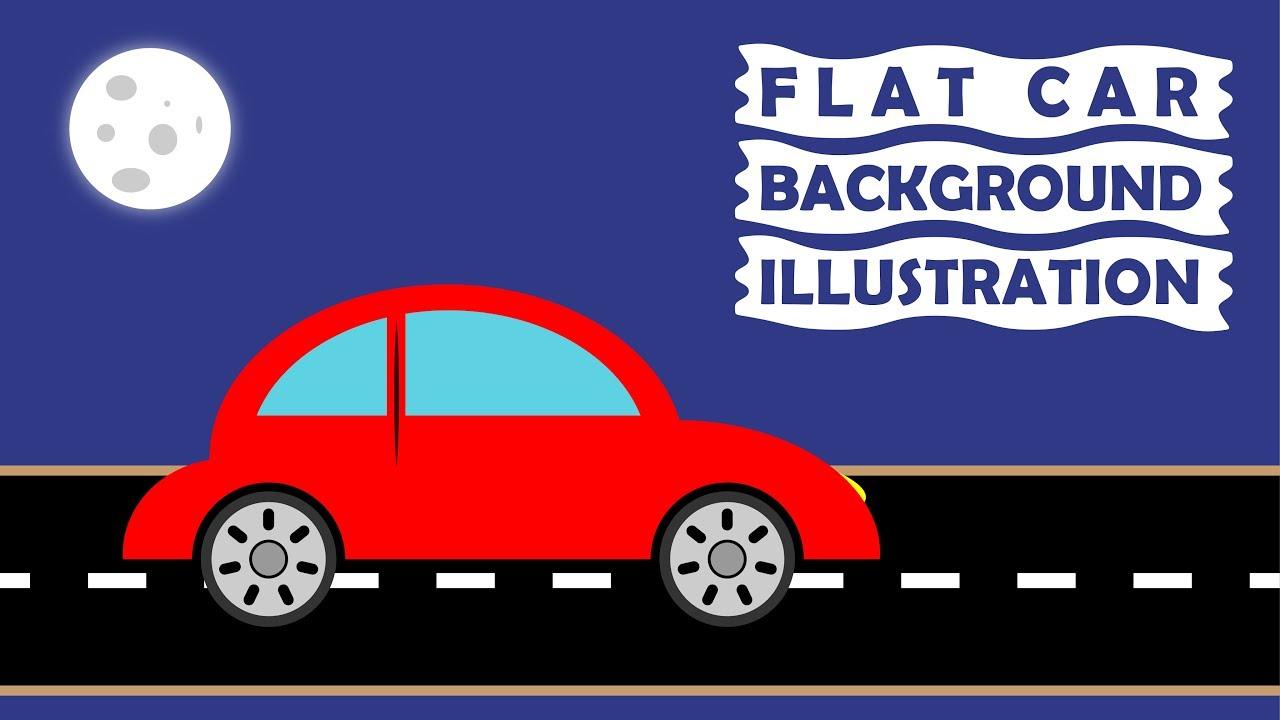 Car Background Illustration   Adobe Illustrator   SKILLS