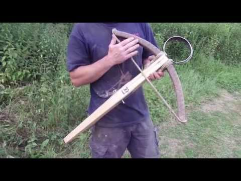 "Tod of Tod's Stuff shooting a 14th Century ""Munition"" Crossbow"