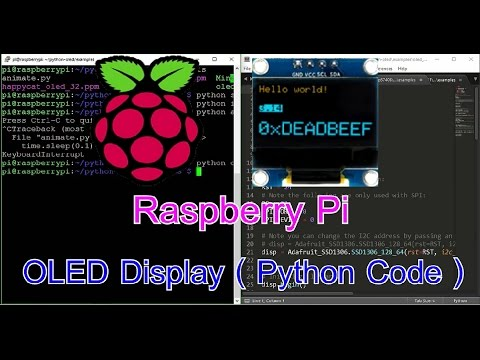 Raspberry Pi Projects: Raspberry Pi connect OLED I2C Display