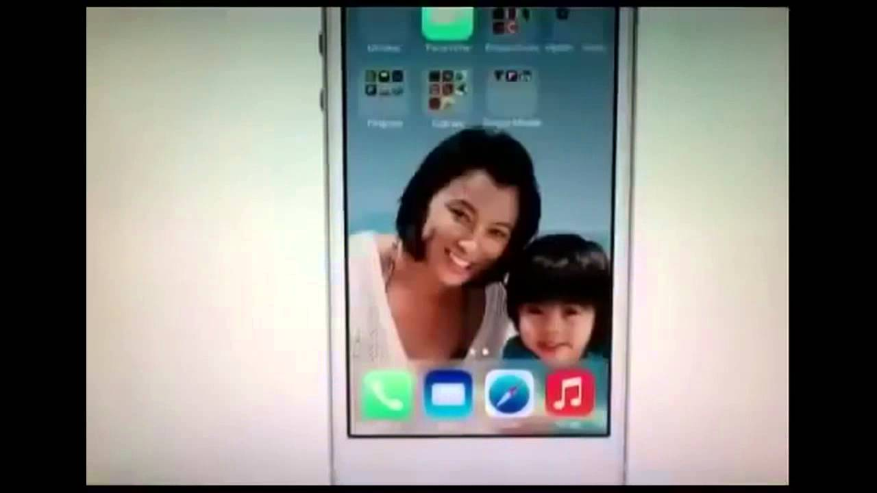 iOS 7 Home Screen Wallpaper Animation Demo Official Apple Video HD