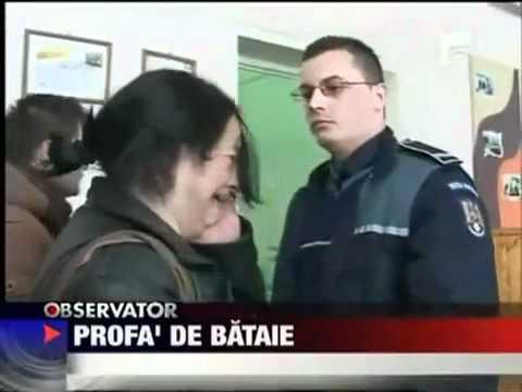 Romanian Police Officer Slaps Teacher