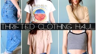 thrifted clothing haul try on