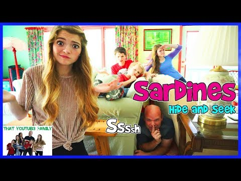 SARDiNES Hide and Seek Game For Kids / That YouTub3 Family