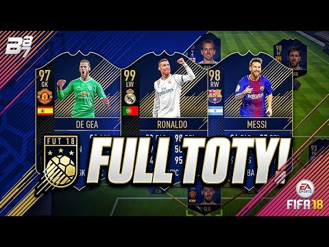 FULL TOTY TEAM! w/ 99 RONALDO AND 98 MESSI! | FIFA 18 ULTIMATE TEAM SQUAD BUILDER