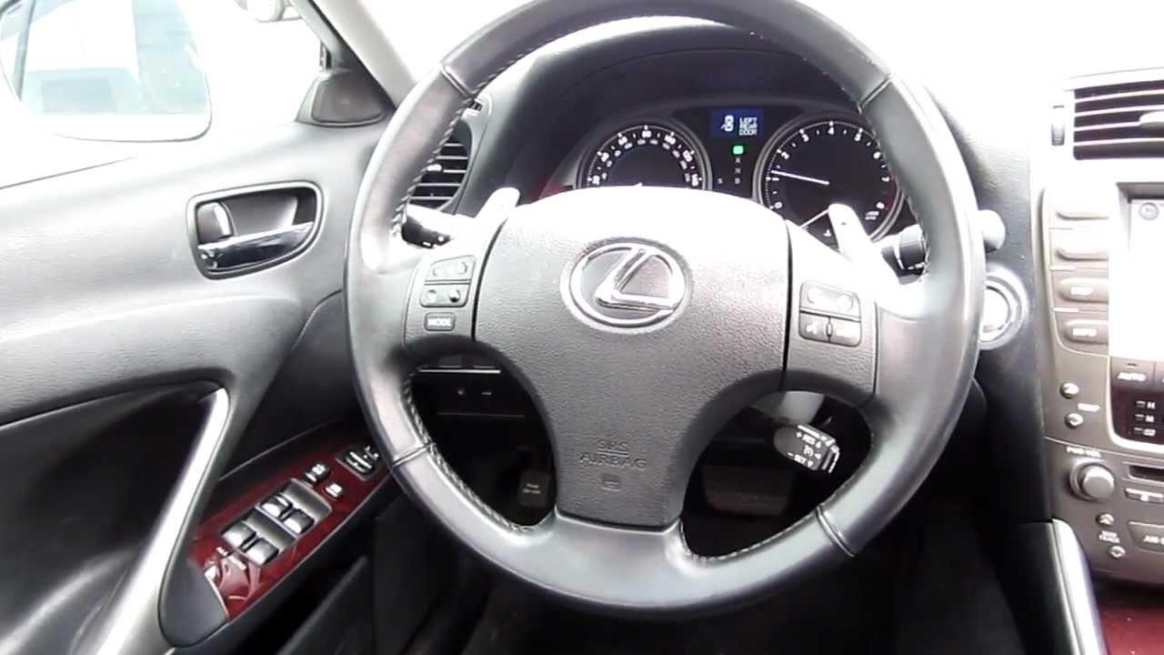 2007 lexus is 250 interior. 2007 lexus is250 white stock h2054 interior is 250 t