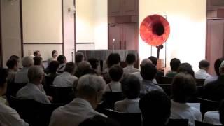2012年10月13日(土)、東京建物 八重洲ホールで行われた蓄音器「HOTOGY...