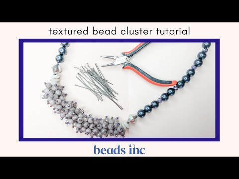 Textured Bead Cluster Tutorial For Jewelry Making