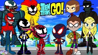 Teen Titans Go! Color Swap Raven Spiderman Spiderverse Venom Surprise Egg and Toy Collector SETC