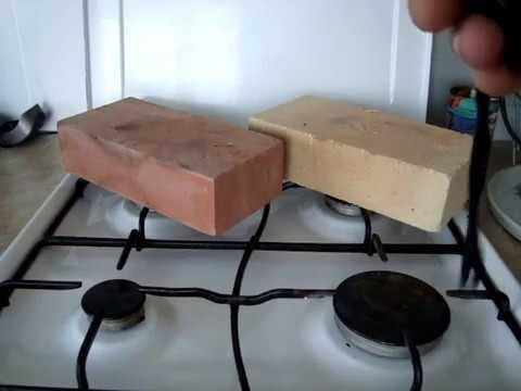 Какой кирпич для топки лучше? тест шамотного и красного кирпича проверка на нагрев и теплоёмкость