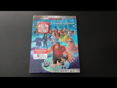 Ralph Breaks The Internet Blu-ray Unboxing (One Shot)
