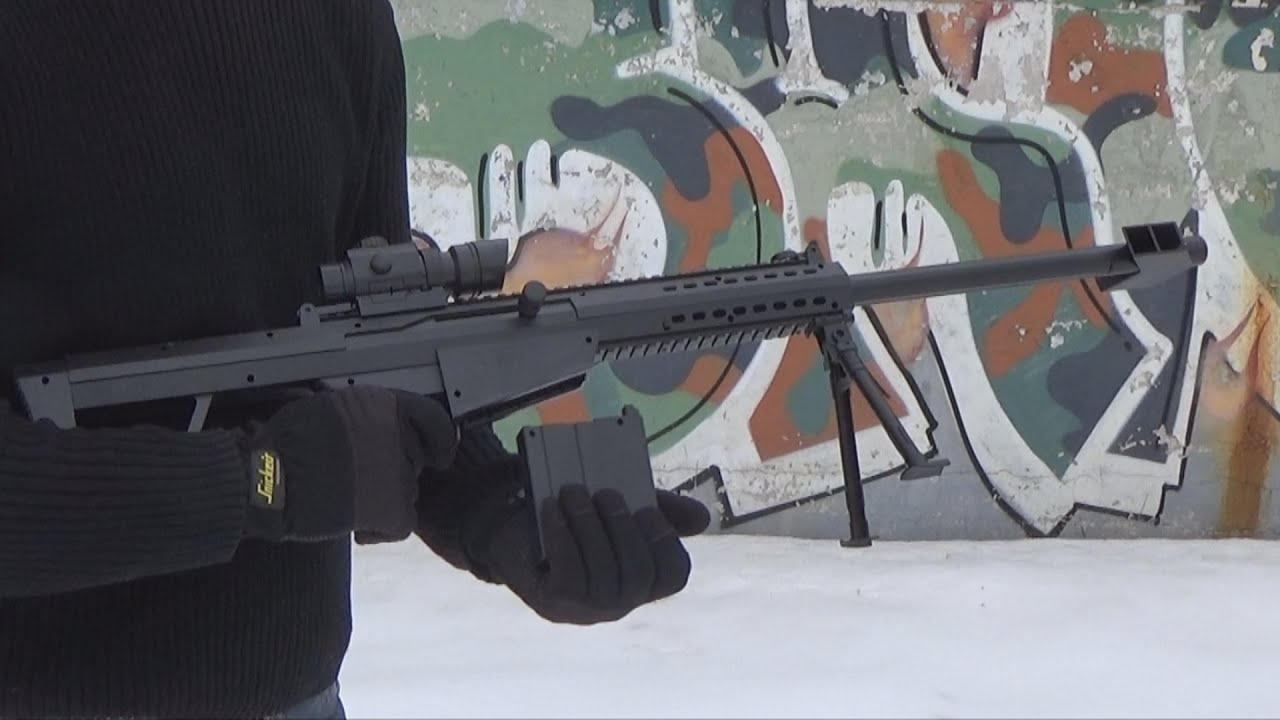 Fun with the Barrett M82 .50 Caliber Rifle - YouTube