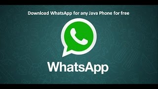 Whatsapp for Java Phones - How to Download and Install