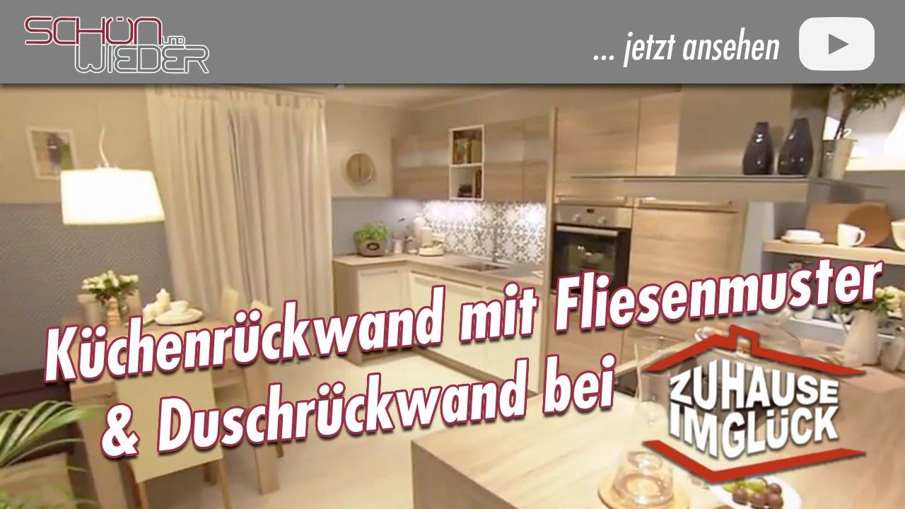 zhg176 küchenrückwand mit fliesenmuster und duschrückwand - youtube - Küchenrückwand Glas Motiv