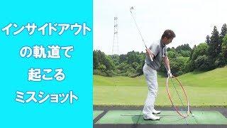 【長岡プロのゴルフレッスン】インサイドアウトの軌道で起こるミスショット