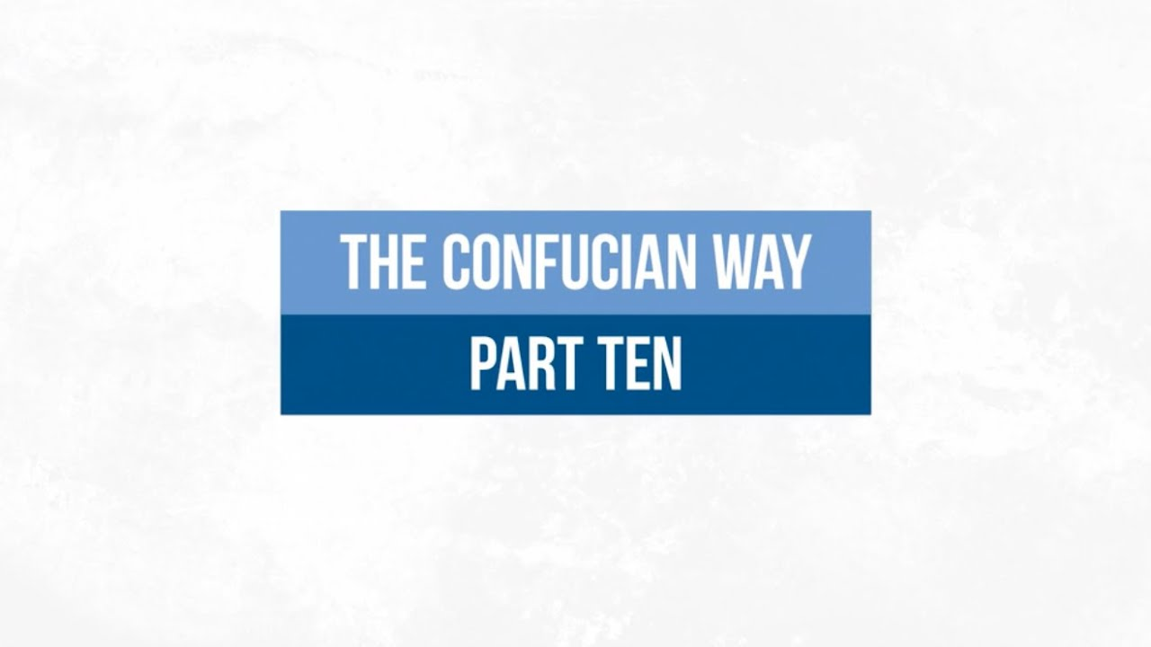 The Confucian Way 10: Water, Stillness and the Mirror of the Sage