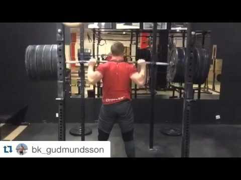 Back squat: 202 x 1 rep by Björgvin Karl Gudmundsson
