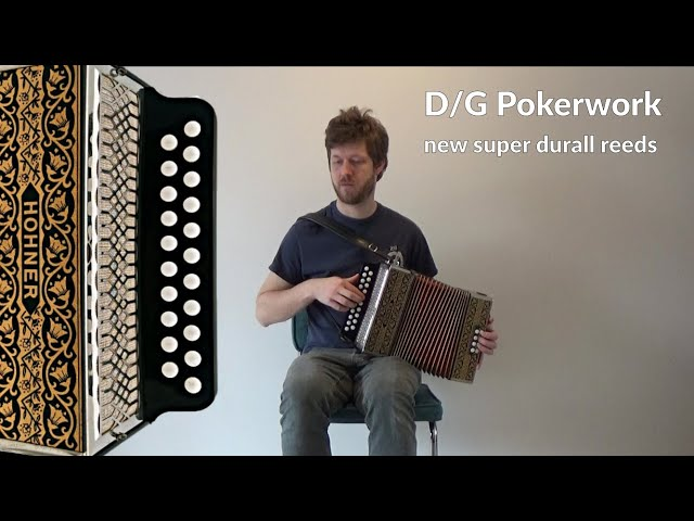 Restored Hohner Pokerwork in DG with new reeds