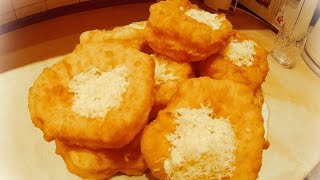 Лангош.Lángos-венгерская лепешка с начинкой Просто и Вкусно!