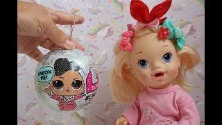 ABRINDO LOL SURPRISE SERIE DE NATAL BLING SERIE BABY ALIVE LILO