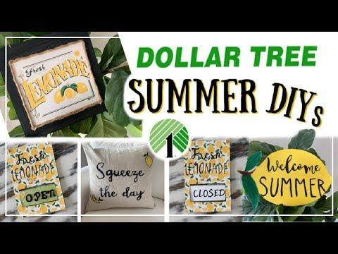 Dollar Tree DIY Summer Decor | Lemon DIY Decor Ideas | Momma From Scratch