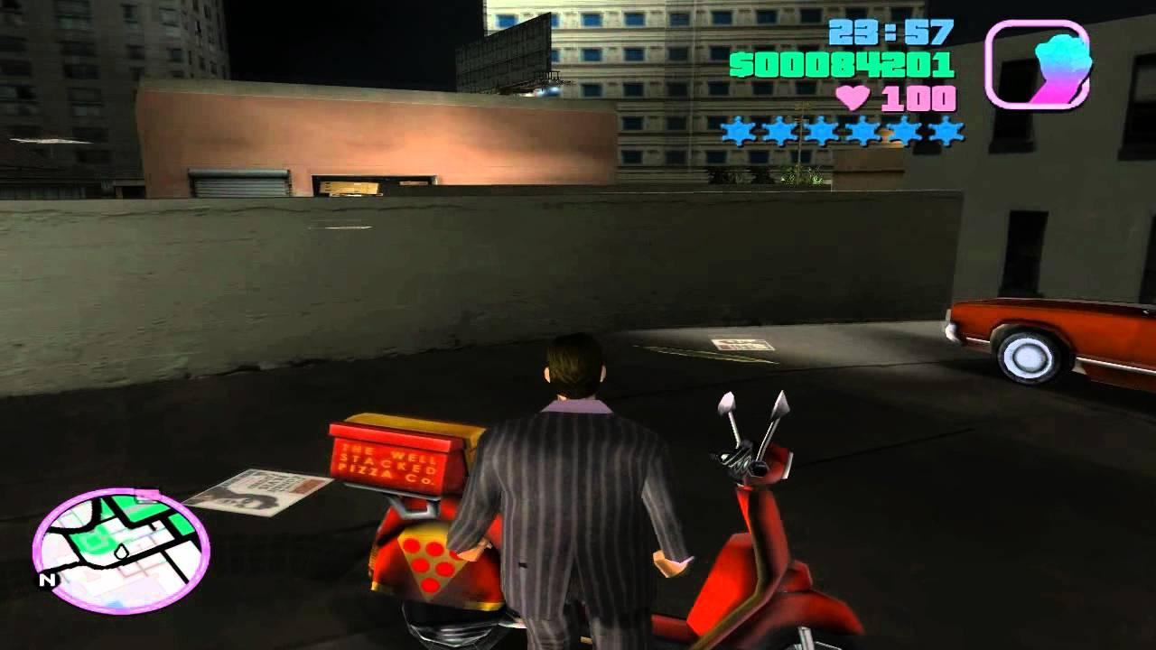 Grand Theft Auto: Vice City - Mission #50 - Sunshine Autos - Wanted List #4  - Pizza Boy
