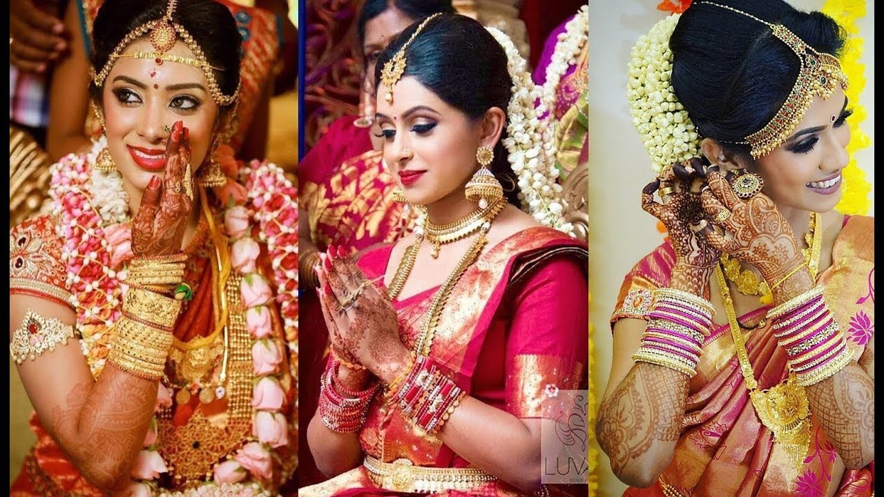 Tamil Bridal Makeover Best Collection With Bridal Silk Saree