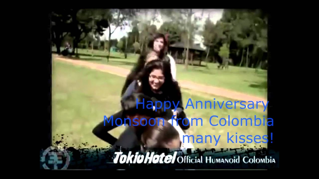 Tokio Hotel Colombia - Happy Anniversary Monsoon Kisses