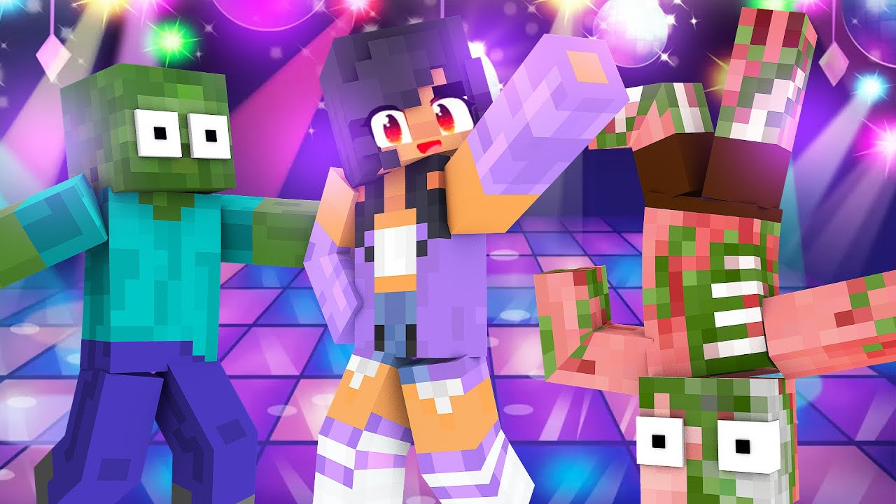 Monster School : APHMAU DANCING CHALLENGE - Minecraft Animation
