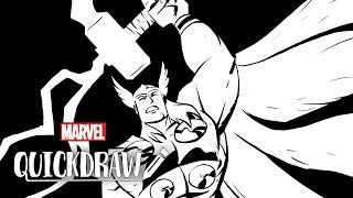 Thor Sketch by Mike Oeming - Marvel Quickdraw