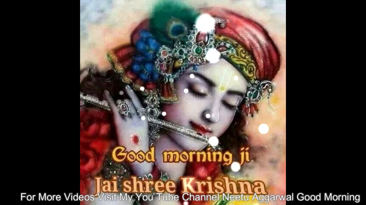 Good Morning Wishes In Hindi With Beautiful Krishna Imagesgreetings