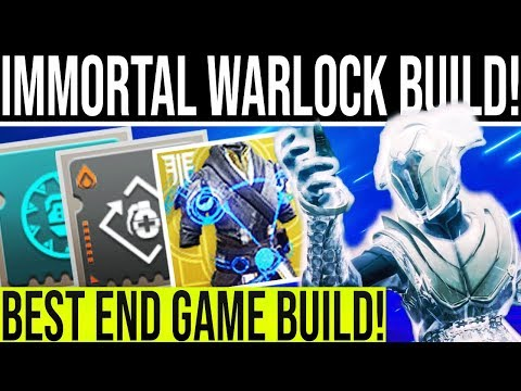 Destiny 2. INSANE WARLOCK BUILD! Become An Immortal Warlock. Constant Healing & DPS Abilities!