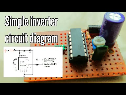 simple    inverter    circuit    diagram    12v to 220v      inverter    using cd4047  YouTube